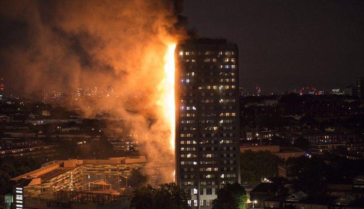 Gigantesco incendio en una torre residencial de Londres