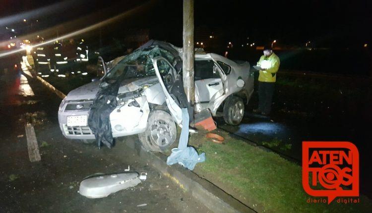 Grave accidente vehicular en Talca deja una joven mujer fallecida y 4 heridos graves