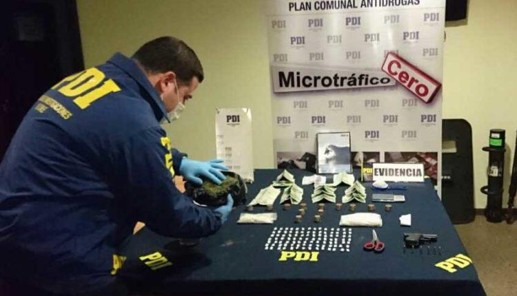 Operativo antinarcóticos permitió detener a curicano que comercializaba cocaína base