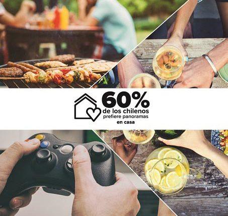 Según encuesta el 60% de los chilenos prefiere realizar panoramas en sus casas