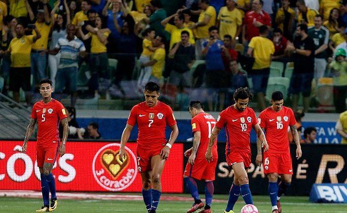 Chile cayó ante el líder Brasil y no jugará el Mundial de Rusia 2018