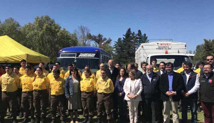 Lanzaron estrategia regional de fortalecimiento de la gestión de incendios forestales en el Maule