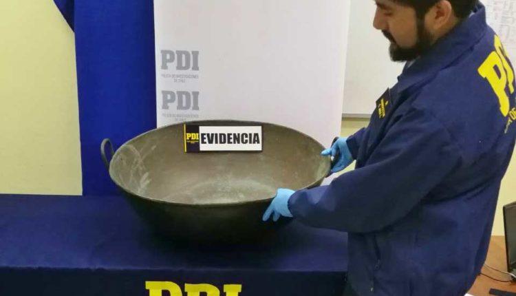 PDI de Linares recupera pieza de cobre de colección robada desde fábrica de ladrillos
