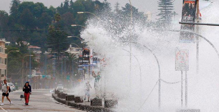 Armada de Chile anuncia marejadas y fuertes vientos en gran parte de las costas del país