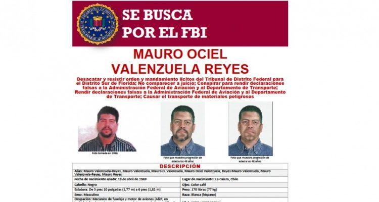 ¡Inédito!: FBI ofrece suculenta recompensa por chileno implicado en accidente aéreo