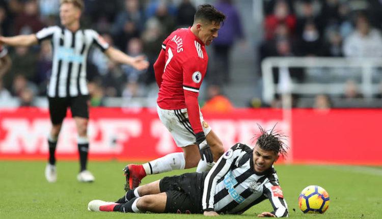 Alexis Sánchez no pudo evitar la caída del Manchester United a manos del Newcastle